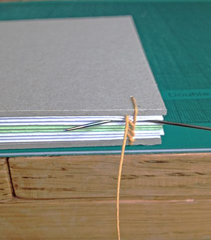 Coptic stitch binding tutorial by Isabel Moseley