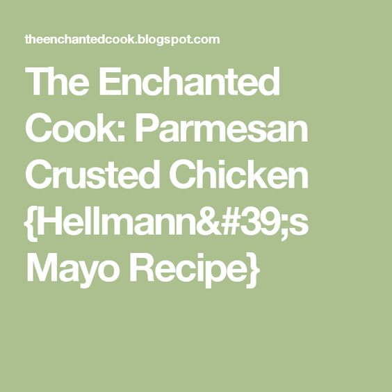 Recipe parmesan chicken using mayonnaise