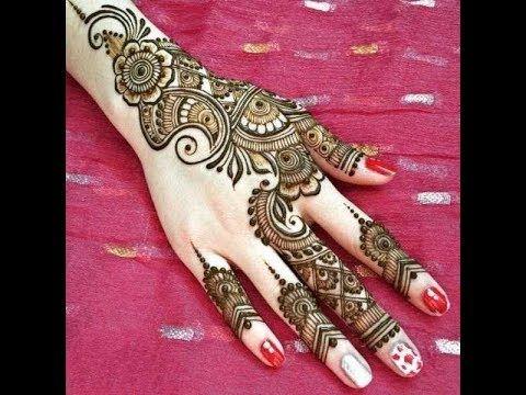 full hand easy and beautiful mehndi design