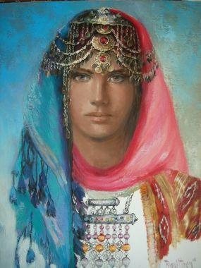 Remzi Iren -.Turkish Painter Anatolia headband..Maraş Head-dresses