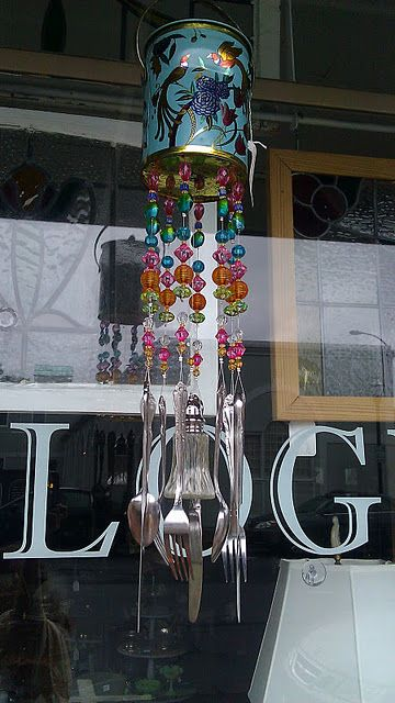 Create a wind chime from orphaned flatware