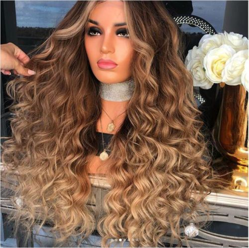 8a New Ombre Blonde Real Human Hair Wigs Lace Front Full Lace Wigs