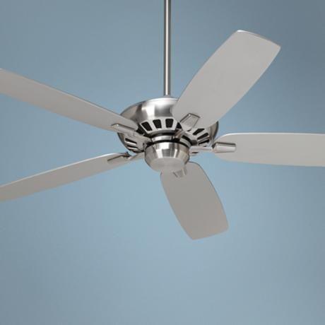 "polished nickel ceiling fans | 52"" Casa Vieja Journey Brushed Nickel Ceiling Fan"