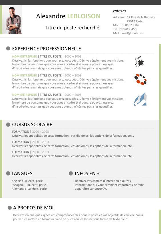 Cv Libre Office Exemple Cv Cv Gratuit Modele Lettre De Motivation
