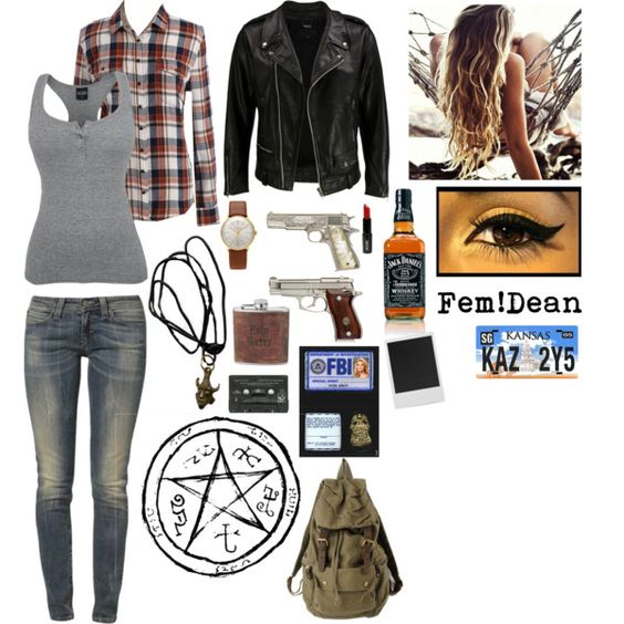Thinking about being fem dean for halloween ive got everything but the clothes right now lol