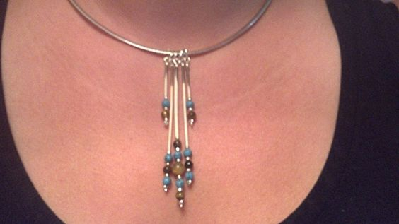 My bff's new favorite necklace from the quills I harvested!