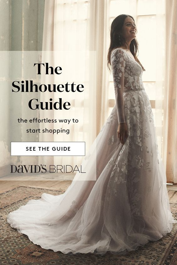 Visit Davidsbridal Com For Info On Wedding Dress Silhouettes The Ball Gown Pairs A Fitted Bodice With Wedding Dress Quiz Wedding Dress Finder Wedding Dresses