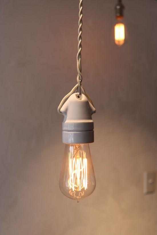 フランス式 陶器ペンダント照明w ダブル E26 ソケット照明 西荻窪