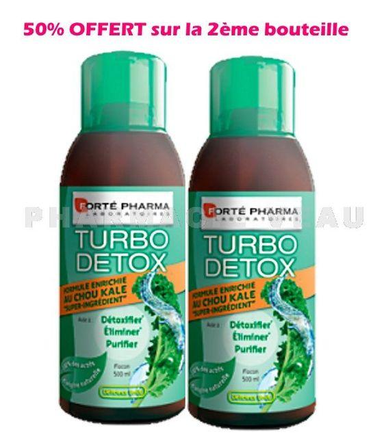 Turbodétox Kale (au Chou KALE) Lot de 2 flacons de 500ml - Forté ...