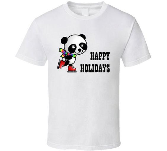 Happy Holidays Panda T Shirt