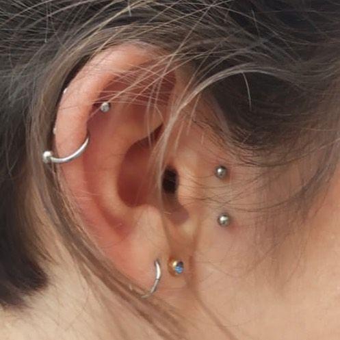 50 Beautiful Ear Piercings With Images Earings Piercings Ear