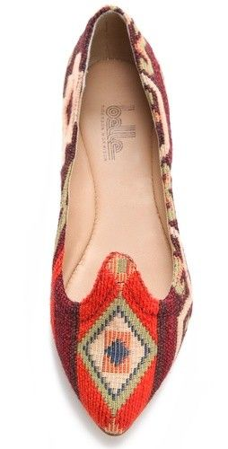 Loafers, print, that odd cut is SO fun and interesting.