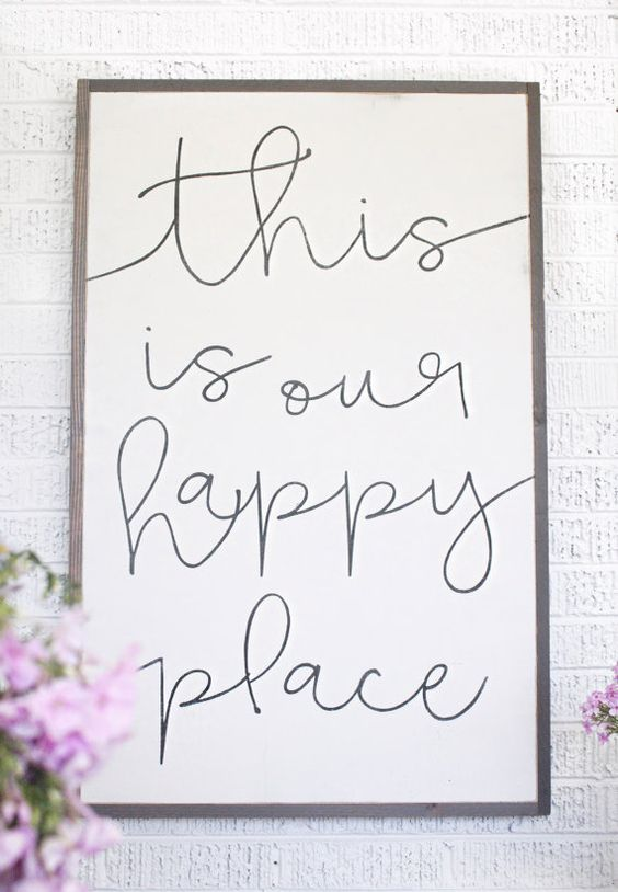 2x3 Our Happy Place by HouseofBelongingLLC on Etsy