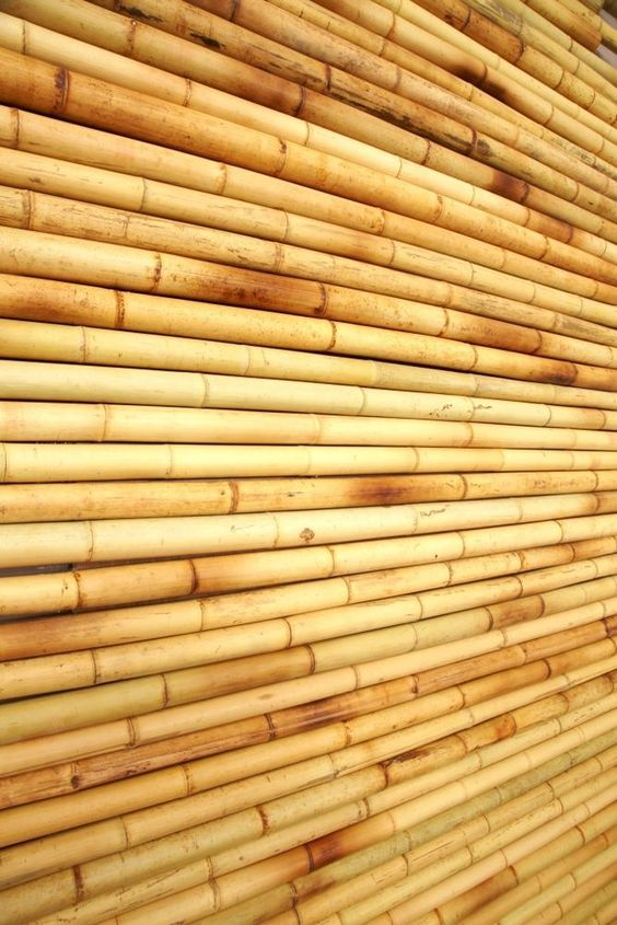 Tropical bamboo wall covering panels home decor easy to for Outdoor wall coverings garden