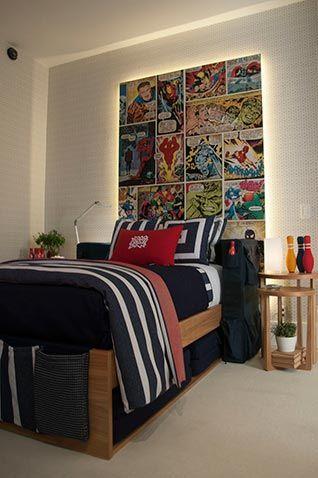 Ambiente assinado por Carolina Hirt, colcha, cortina, almofadas confeccionadas pela Casa Mineira.