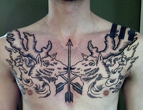 chest piece - loving arrows