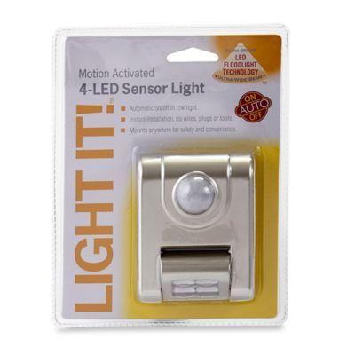 4-LED Motion Sensor Light - BedBathandBeyond.com