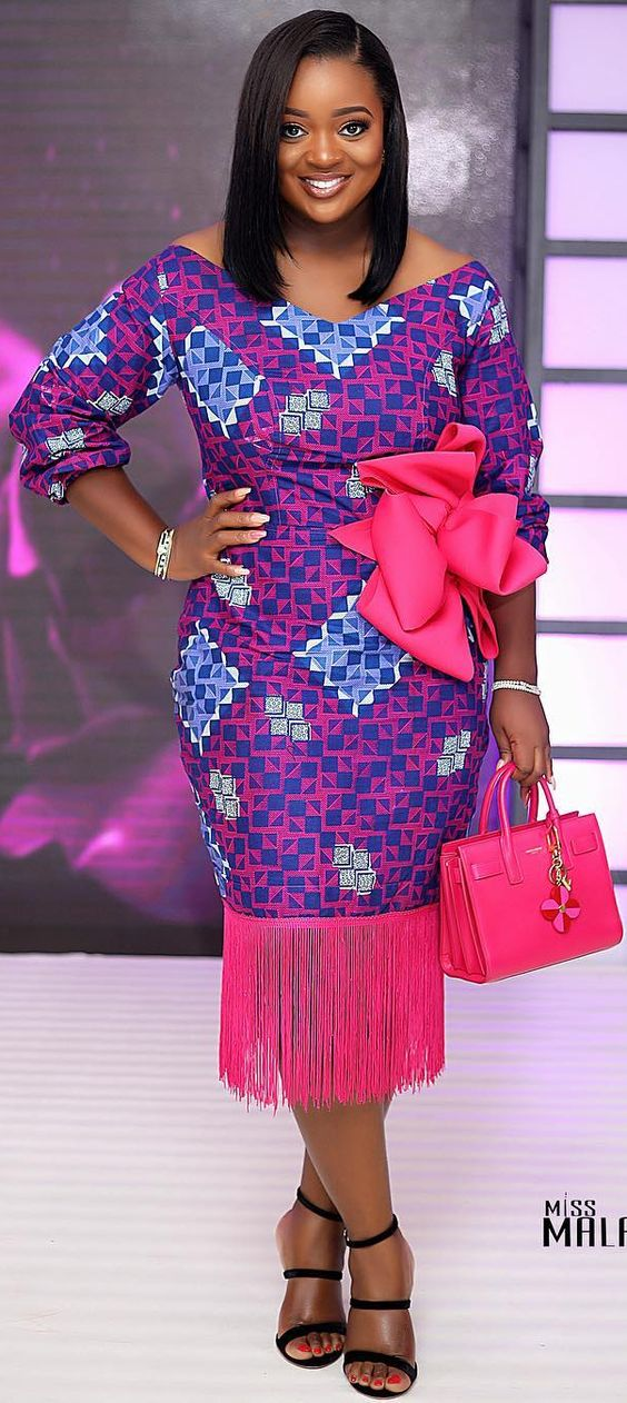 Jackie Appiah slaying Ankara fashion dress