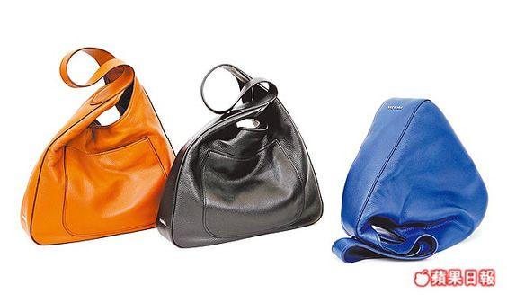 Hobo包以小牛皮製成,柔軟細膩。 各6萬2000元