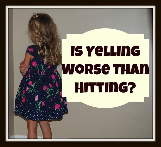 New Research: Is Yelling at Kids Worse than Hitting? from Mommy with Selective Memory