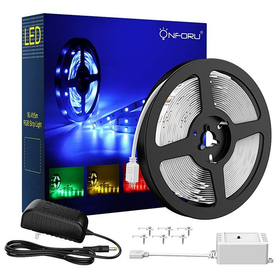 16 4ft Rgb Led Strip Lights Kit 5m Flexible Color Changing Lights Strip 150 Units 5050 Rgb Smd Led Rope Lights With 12v Power Supply And Controller For Home Led