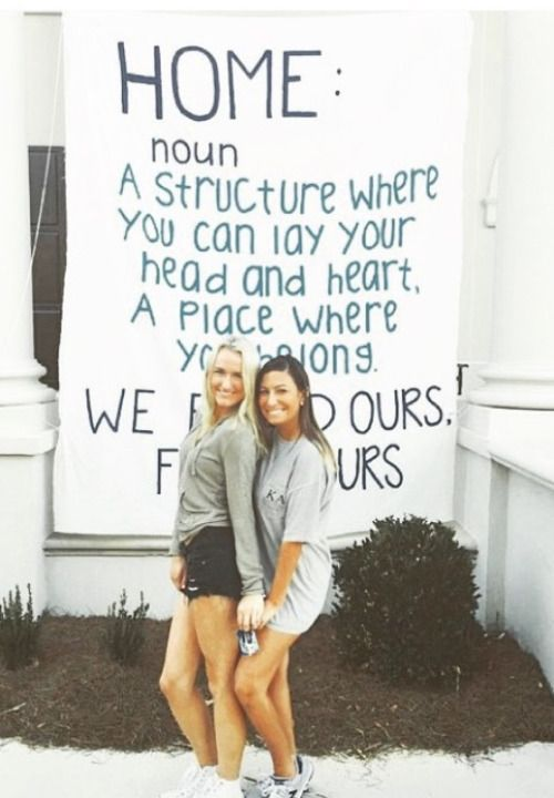 A simple idea for a banner about coming home to ADPi! By Delta Sigma - Ole Miss ADPi