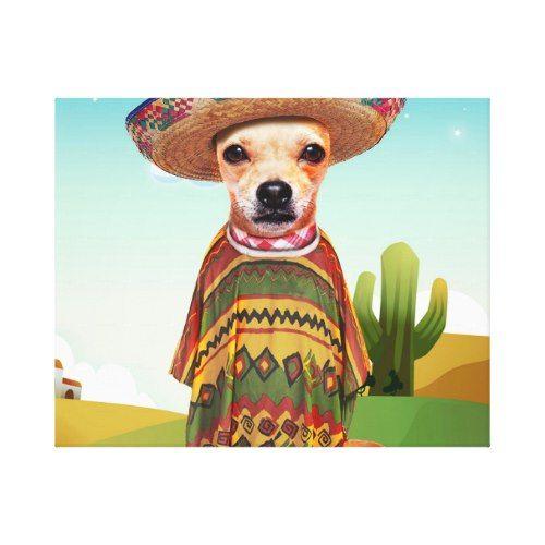 Mexican Dog Chihuahua Canvas Print Zazzle Com Chihuahua Love