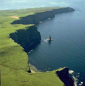 West Coast of Ireland.  Maybe you will get lucky and it will be sunny like it is in this pic