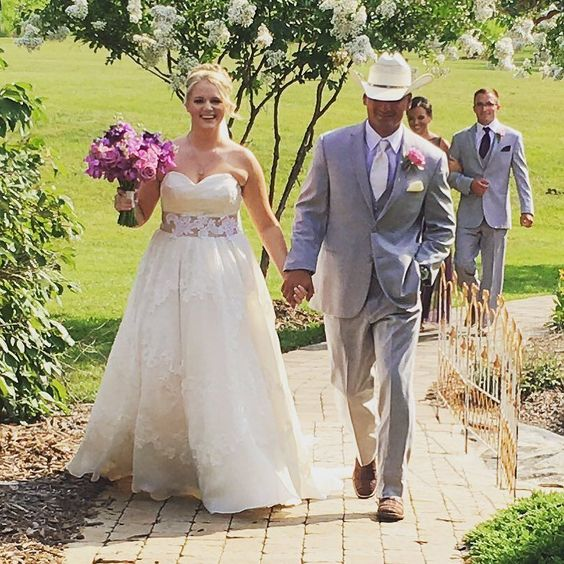 Congrats To Mr. & Mrs. Gonsalez! Ceremony Done.  Dinner Done. It's Party Time! #wedding #ceremony #outdoorwedding #cowboyhat #countrywedding #bride #groom #brideandgroom #virtualsounds #weddingdress #weddinggown #thearbors #thearborsevents http://ift.tt/22Yyiqn