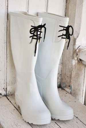 I wear these boots when I tend to my fantasy garden. #shoes #gardening #white