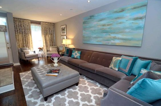 Best Gorgeous Turquoise And Grey Living Room Furniture F*T*Sh 400 x 300