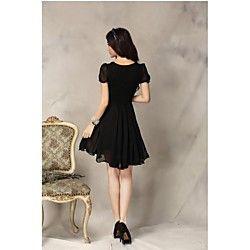lace chiffon das mulheres vestido plissado - USD $ 16.99