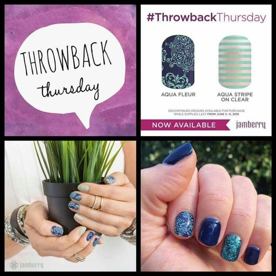 Throwback Thursday is LIVE!!   Aqua Fleur is a HUGE Unicorn in Jamland (we  LOVE it)  We are definitely adding it to our collection ;)  #TBT #diynails #mkwraps   https://mkwraps.jamberry.com/us/en/shop/party/home/47078f12-b49a-4ecd-a05e-de3ed32e4605