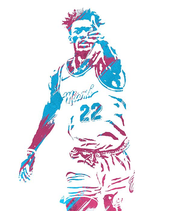 Pin By 21st Century Resolutions On Nba Watercolor Strokes Pixel Art In 2020 Nba Pictures Nba Artwork Miami Heat