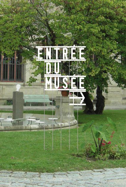 Musée National Adrien Dubouché - Signalétique jardin (Atelier Evelyn ter Bekke et Dirk Behage)