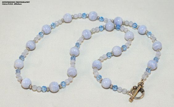 Blue Lace Agate is the stone of peace and is gentle and calming. Brings balance and emotional stability.