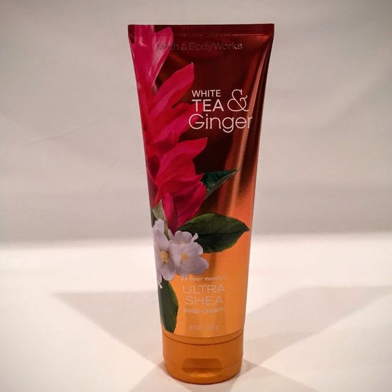 Bath Body Works White Tea and Ginger Ultra Shea Body Cream New | eBay