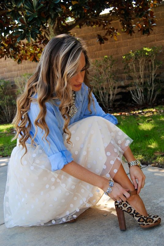 Fashion blogger Morrell Turner reviewed our boutique Polka Dot Tutu Skirt on her blog. We love how she paired it with denim!