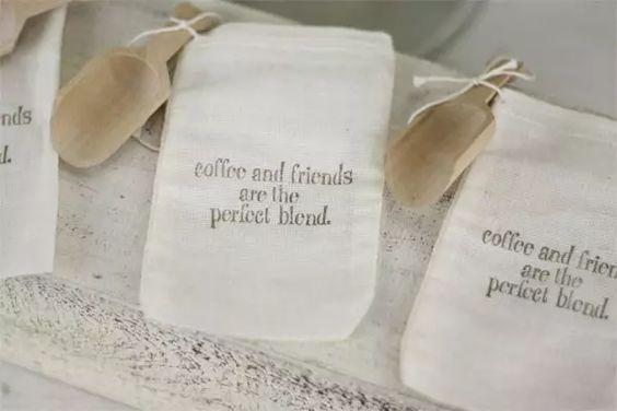 Café como lembrança de casamento