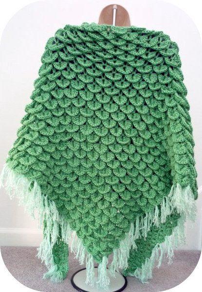 Free Crochet Shell Shawl Patterns : Crochet shawl, Crocodile stitch and Shawl on Pinterest