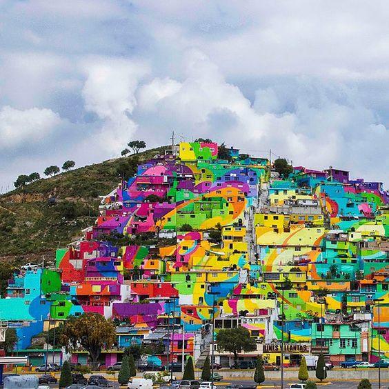 ➡️ Уличные художники раскрасили более 200 домов в мексиканском городке Пальмитас! Подробнее на buro247.kzh ➡️ Street artists painted more than 200 houses in Palmitas, Mexico! More on buro247.kz #GermenCrew #streetart #art #graffiti #buro247kz #palmitas #mexico
