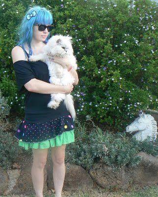 """Max California: Day 5:: """"Cyndi"""" polkadot rara skirt"""