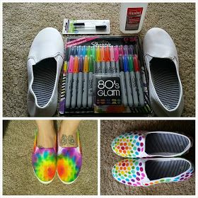 Made In Michigan: DIY Tie Dye Shoes (with Sharpies!):