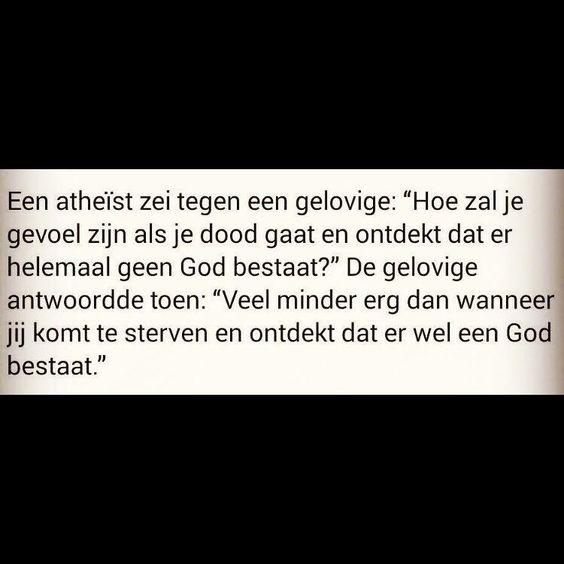 Een atheïst en een gelovige...