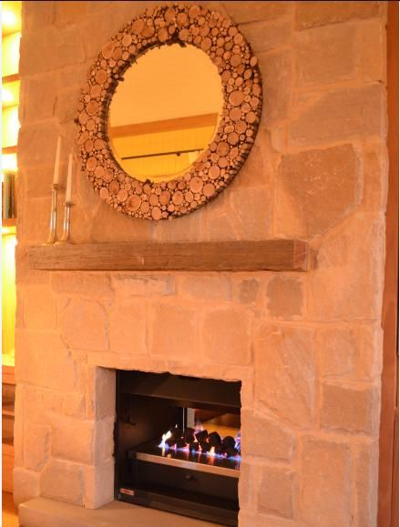 Wood mirror surround