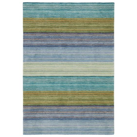 Company C Wool Rug Brushstroke Blue 8'x10' $1745