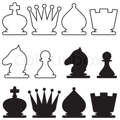 stock vector of 39 silhouette chess 39 crafts pinterest. Black Bedroom Furniture Sets. Home Design Ideas