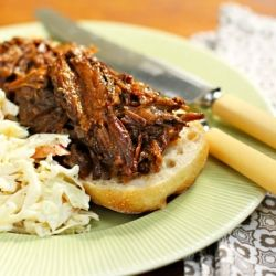 Slow cooker sweet and smoky beef