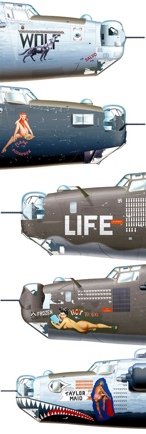 Consolidated B-24 Liberator Aircraft. Or, how the Air Force has changed. Goddamn tooey.: