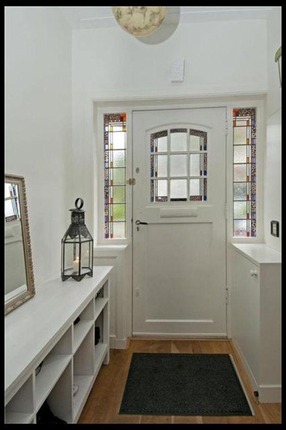 Voordeur jaren30 met glas in lood - Glas in lood patronen ...